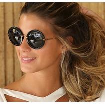 Óculos De Sol Retrô Vintage Redondo Estilo Miu Miu