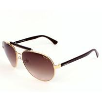 Óculos De Sol Aviador Police S8644 Ray Ban Prada Original