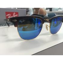 Oculos Ray Ban Rb 3016 Clubmaster 1145/17 51 Original P. Ent