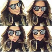 Oculos De Sol Illesteva Espelhado Preto Lente Prata