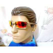 Oculos Squared Gold Dourada Ruby Polarizada Frete Gratis