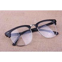 Oculos Armação Grau Rb Clubmaster Rb 3016 Preto Prata