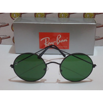 Oculos Sol Redondo Jon Lenon Preto Ray-ban Rb3447 Lente Fumê