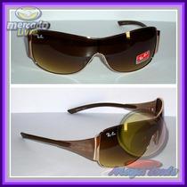 Óculos Máscara 3321 Dourado Máscara Marrom Degradê