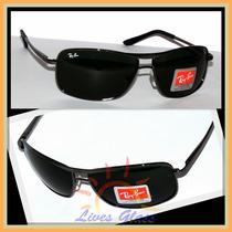 Óculos De Sol 8013 Armação Grafite Lentes Escuras