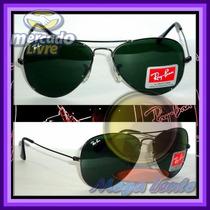 Óculos Aviador Aviator 3026 G Grafite Lentes Escuras