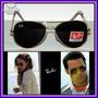 Óculos Aviador Aviator 3025 Dourado Lente Preta