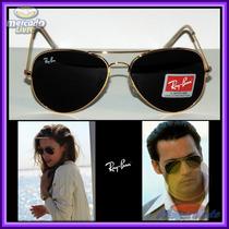 Óculos Aviador Aviator 3026 G Dourado Lente Preta