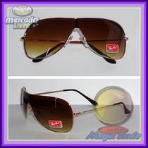 Óculos 3211 Dourado Máscara Marrom Degradê