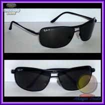 Óculos 8013 Preto Lentes Polarizadas