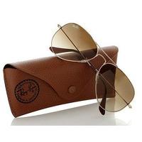 Óculos Ray Ban Aviador 3025 Dourado C/ Lentes Marrom Degradê