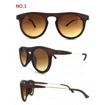 Óculos De Sol Unissex Importado Marrom Fosco Panicat Moderno