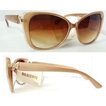 Óculos De Sol Gatinha Orig.berrini Uv400 Cateye Dourado Pero