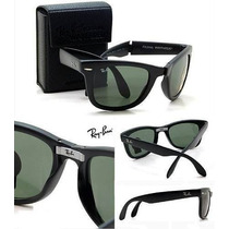 Oculos De Sol Rb2140 Rb4105 Wayfarer+kit + Porta Óculos