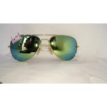 Óculos Sol 3025 Homen Mulher Lentes Espelhadas Verdes