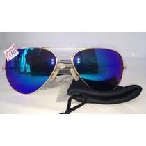 Promoção 3 Óculos Espelhados Aviador Piloto Proteção Solar