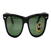Óculos Rb2140 Wayfarer Preto Grande Lentes Verdes Cristal