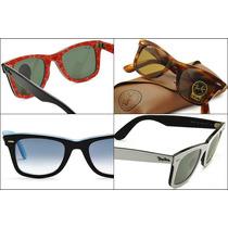Óculos De Sol Rayban Wayfarer 2140 - Case Marrom + F. Gratis