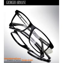 Óculos Giorgio Armani Grau Armação Masculino Preto Acetato