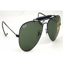 Óculos 3028 Armação Preta Lente Verde Com Mola