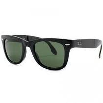 Óculos Wayfarer 2140 Preto Fosco Lente Verde