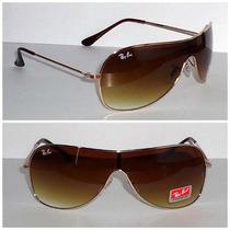 Óculos Ray Ban Máscara Grande Rb3211 Dourado
