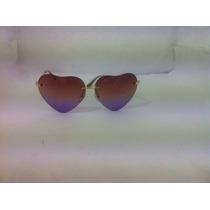 Óculos De Sol Feminino Promoção Coração Presente