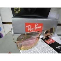 Ray Ban Aviador Rb3026 Com Lentes Rose