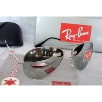 Ray Ban Aviador Lente Cristal Prata Espelhada Rb3025 Rb3026