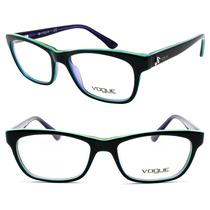 Armação Vogue Em Acetato Retrô Para Óculos De Grau - Vo2967