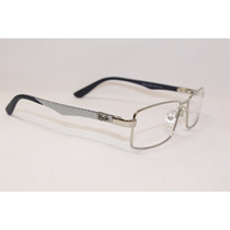 Rb8402 Armação Óculos De Grau Prata Em 12x Sem Juros