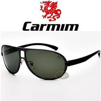 Óculos De Sol Carmim Masculino Preto Aviador Novo Original