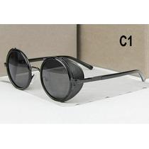 Oculos Sol Lentes Redondas Com Proteçao Lados Novela Verdade