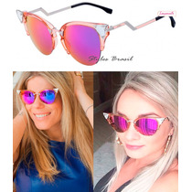 Oculos De Sol Fendi Estilo Gatinho Ff042 Cores + Frete Free