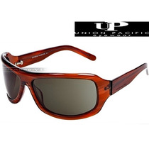 Óculos De Sol Up Union Pacific Masculino Marrom Acetato