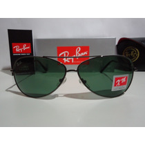 Óculos Aviador 8015 Grafite Lentes Verdes