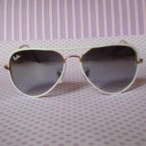 Óculos Ray Ban Aviador Espelhado Degradê Prata Rb 3025 3026