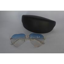 Óculos De Mulher Transparte Azul Moda Lolita Metal