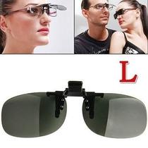 Clip-on Sobrepor Sobre Óculos De Grau Lentes Grandes