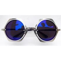Óculos Vintage Armação Cestavada Prateada- Pin Up- Retrô