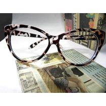 Armação Óculos Cat Eyes Gatinha Oncinha Importada No Brasil