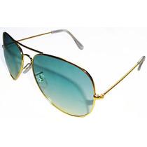 Ray Ban 3025 Aviador Dourado Lente Verde Degradê Promoção!!!