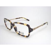 Armação Óculos Feminino Tartaruga Dourado Ou Preto Rle610 Mj