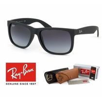 Óculos Ray Ban Justin Preto Rb4165 Aviador Wayfare Clubmaste