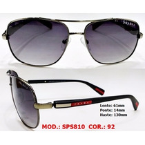 Oculos Sps810 Sol Masculino Grafite - Prata