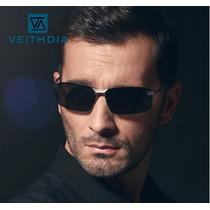 Óculos De Sol Aviador Masculino Polarizado Veithdia Original