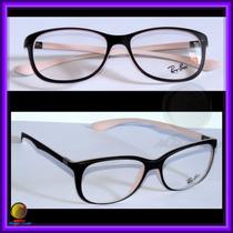Óculos De Grau, Armação, Preto E Rosa, Rb7024