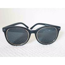 Oculos De Sol Preto Feminino Masculino Haste Estilo Madeira