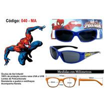 Óculos De Sol Infantil Do Homem Aranha E Feminino Com 100%uv