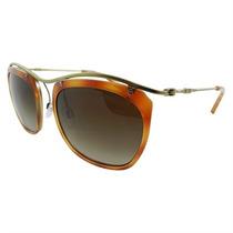 Óculos De Sol Feminino Emporio Armani Caramelo De Acetato